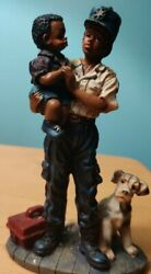 Ks Collection Figurines African American Woman In Uniform With Child 5/1/4 Tall