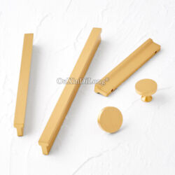 Luxury 10pcs Solid Brass Cupboard Kitchen Cabinet Furniture Handles Drawer Pulls