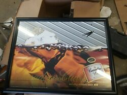 Canadian Club Whiskey Vintage Mirror Sign With Clock Nice Mancave 25 X 19