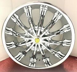 4 Back In Stock Old Skool Three Chrome 20 X 8.5 Wheels Fits Most Cadillac
