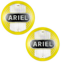 Ariel Fuel Tank Badges - Yellow - 1954-59 Pair - Singles Twins And Square 4