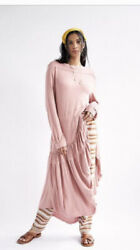 Free People Milly Midi Dress Beach Large Pink Rose NWT L $75.00
