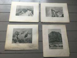 Vintage C1920and039s Lot 4 Photographic Plates Alps European Mountain Images 15x12