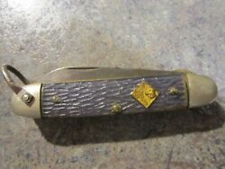 Vintage Camillus New York Usa Cub Scout Knife With Bail Euc