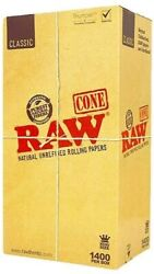 Raw Classic - King Size Rolling Paper Cones 1400 - Bulk Buy