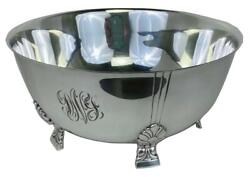 And Co Palmette Art Deco Sterling Silver Footed 10 Centerpiece Bowl Dish