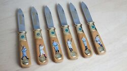 Franklin Mint Baseball Collector Knives - Full Set Of 6 W/ Collector Case