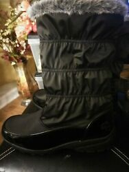 Totes Winter Fur Lined Boots Black Size 10M $30.00