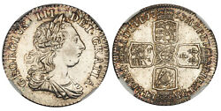 Great Britain George Iii 1763 Ar Northumberland Shilling. Ngc Ms61 S-3742