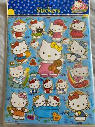 Cute 10 Sheets of Hello Kitty Stickers 8quot; X 10quot; Sheet Blue