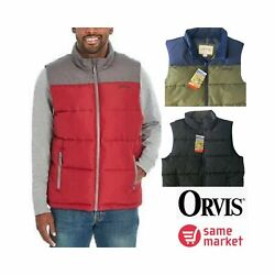 New Orvis Menand039s Quilted Vest Size And Color Variety