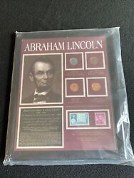 American Coin Treasures Abraham Lincoln Penny And Stamp Collection