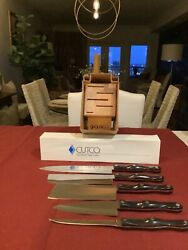 Cutco Gourmet Set W/ Block Brand New  Free And Fast Shipping