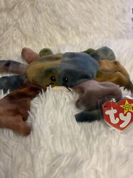 Rare Colors Claude The Crab Ty Beanie Baby 1996