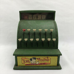 Tom Thumb Steel Green Cash Register - Works Great, Excellent Condition