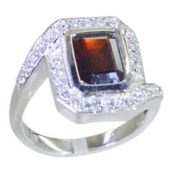 Garnet 925 Solid Silver Ring Genuine Jewelry For Motherand039s Day Gift Us