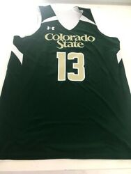 New Mens 2014 Under Armour Colorado State Rams Basketball Jersey Sz L Reversible