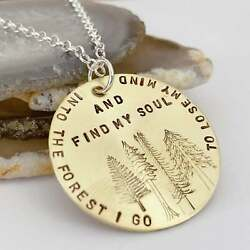 Tree Necklace - Into The Forest I Go To Lose My Mind And Find My Soul