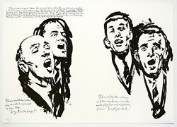 Raymond Pettibon Untitled The Wind Whispers, 2000. Signed, Numbered Print