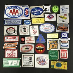 Vtg Coal Mining Mine Hard Hat Stickers Decals Lot Of 32 Wv 1980s Trucking Usa B2