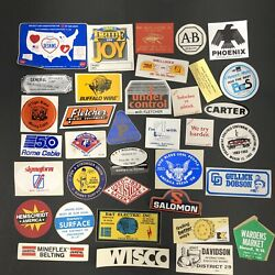 Vtg Coal Mining Mine Hard Hat Stickers Decals Lot Of 35 Wv 1980s Trucking Usa B6