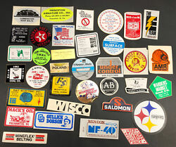 Vtg Coal Mining Mine Hard Hat Stickers Decals Lot Of 35 Wv 1980s Trucking Usa B9