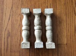 Lot 3 Victorian 9 Balustrade Railing Pieces Spindle Porch Rail Baluster Salvage