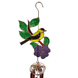 Handmade Stained Glass Goldfinch Wind Chime Large