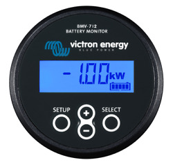 Victron Bmv-712 Battery Monitor In Black With Built-in Bluetooth - Ships Free