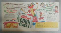 Kellogg's Cereal Ad Chiquita Banana Transfers From 1948 Size 7.5 X 15 Inches