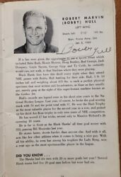 Vintage 1966-67 Team Autograph Bobby Hull Stan Mikita Signed Yearbook Program