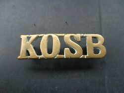 Kingand039s Own Scottish Borderers Shoulder Title Brass43mm X 13mm2 X Hex Lugs