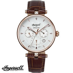 Ingersoll In1318rwh Shawnee Limited Ed Rose Gold Brown Leather Womenand039s Watch New