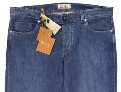 Loro Piana 5 Tasche Button Slim Blue Jeans Size Us 42, Made In Italy