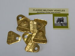 Carter Wo Carburetor 539s Data Plate Tag. Willys Mb Ford Gpw Cj2a. Take Off Part