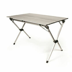 Camco 51892 Fold-away Aluminum Roll-up Table With Carrying Bag