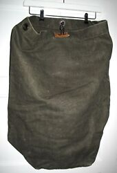 Vintage 50s Xl Army Green Rucksack Heavy Thick Canvas Laundry Duffle Bag Sack