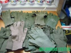 Mixed Random Large Lot Of 32 Us Military Od Wool Glove Liners Inserts Surplus