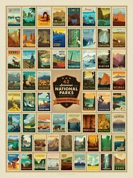 True South Puzzle Co. National Parks Wilderness And Wonder Puzzle 500 Pieces