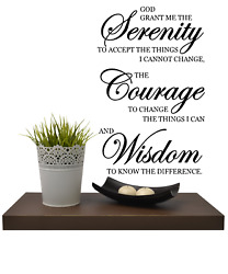 God Grant Me The Serenity Vinyl Wall Decal Sticker Home Decor 13 X 20