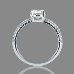 1 3/4 Ct Affordable Diamond Engagement Ring Round Cut F/si1 14k White Gold