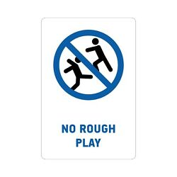 No Rough Play Pool Sign Rust Free Uv Print Weatherproof Used Indoor And Outdoor
