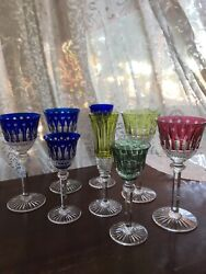 Saint St Louis Crystal France Tommy Mixed Colors And Shapes