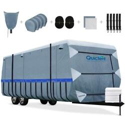 Quictent Travel Trailer Rv Cover Waterproof 5-layer Camper Cover Fit 18and039-33and039 Us