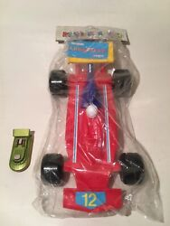 Vintage Big Plastic Formula 1 Apergis Made In Greece With Goodyear Sticker 80's