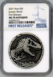 Jurassic World 2021 Niue Ms 70 First Releases Certificate 27 Law