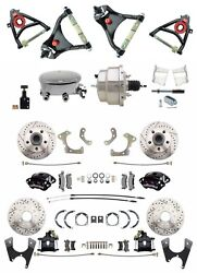 Chevy Belair 55-58 Wilwood Front Caliper Gm Rear Disc Brake Kit Control A Arms