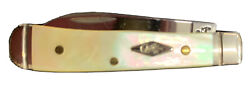 Case Gold Mother Of Pearl Tiny Trapper With Warncliff Blade Rare 2007