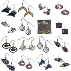 Nfl Dangle Earrings Pick Your Team Officially Licensed Nfl Jewelry