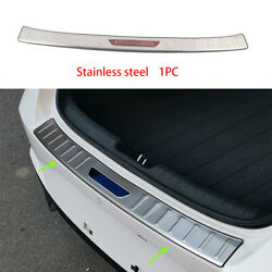 Steel Rear Outer Bumper Protector Scuff Plate Guard 1pc For Hyundai Elantra 2021
